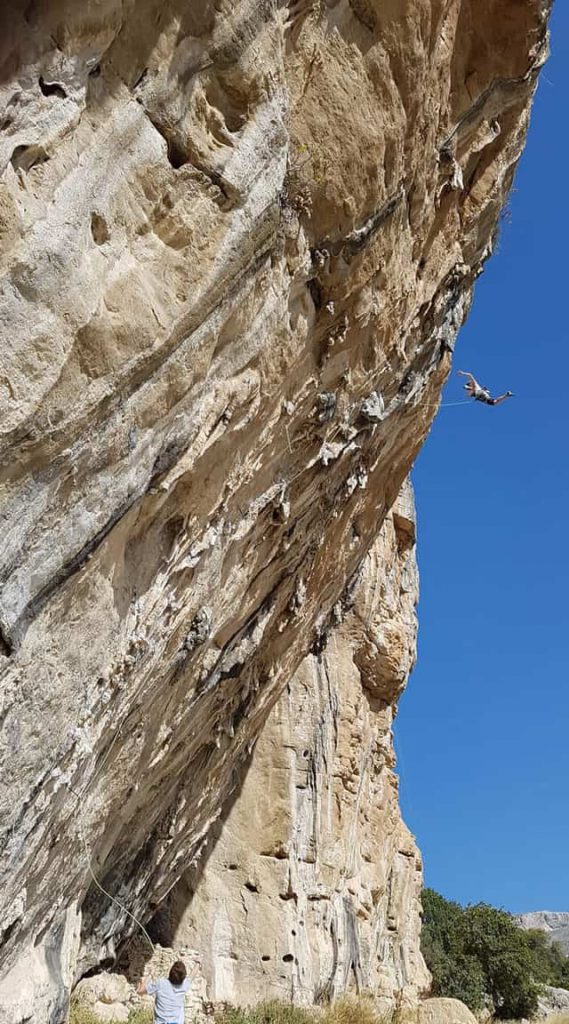 expert climbing in el chorro