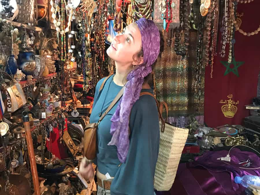 woman in morocco buying