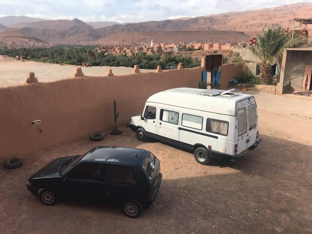 camping overnight in morocco