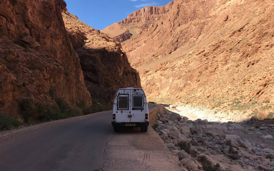 Traveling through Morocco in a Van
